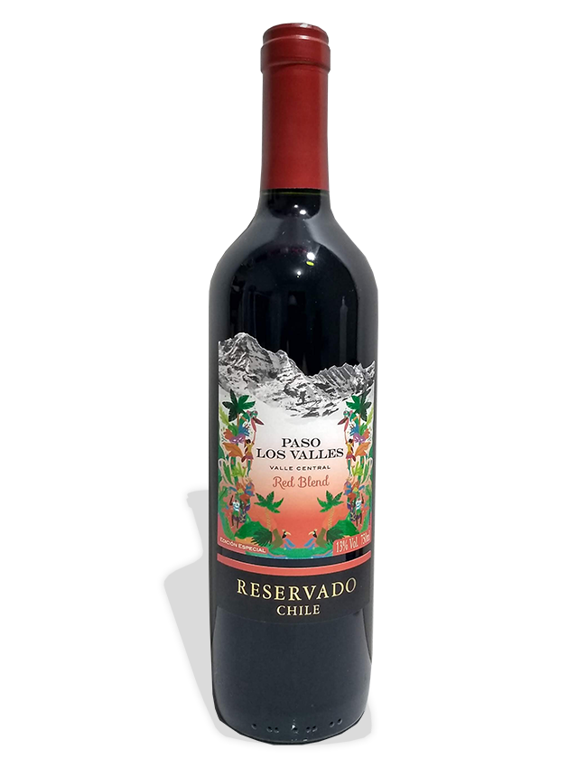 Vinho Paso Los Valles Red Blend Reservado Chile